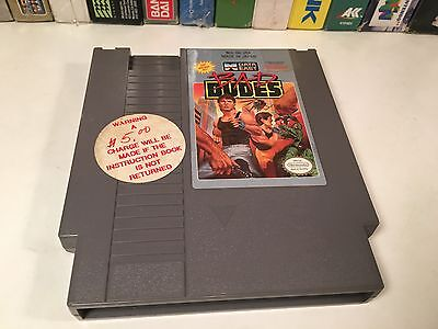 * Bad Dudes Nintendo NES Video Game Cartridge Vintage Data East Classic Action