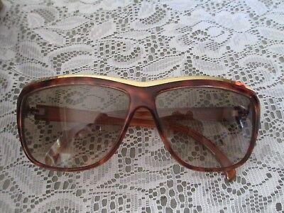 Womens CELLINI Vintage Italian Sunglasses Tortoiseshell With Gold Accents