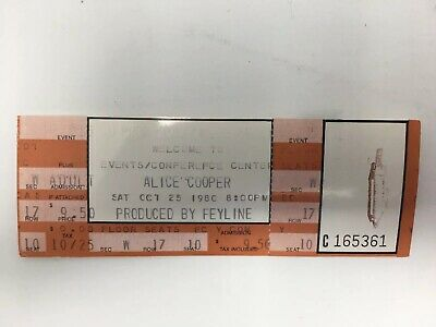 Alice Cooper 1980 Concert Ticket Unused Full Intact Boulder CU Colorado Vintage