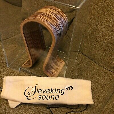 Sieveking Headphone Stand with original bag and Perspex Cover