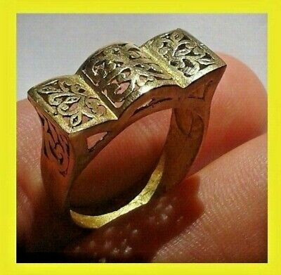 Ancient Ring Bronze Legionary Stunning Rare Type Artifact Extremely Old Vintage