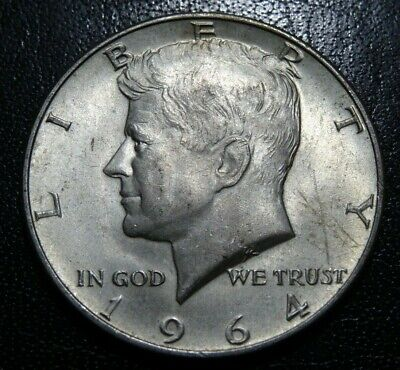 Lightly Circulated 1964 D 90% SILVER KENNEDY HALF DOLLAR Coin JFK 50C Collection