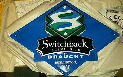 Switchback Beer Brewery  VT Vermont Craft Beer tin metal tacker sign New 22x16