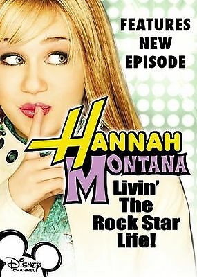 NEW!  Hannah Montana Living the Rock Star Life! (DVD, 2006) Disney Channel Serie
