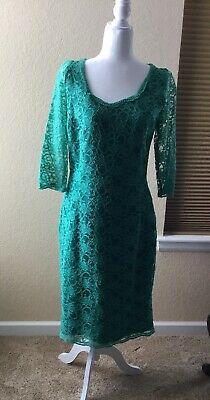 b26202a7 SL FASHIONS SEQUINED Lace Fit & Flare Dress MSRP $ 119 Size 12 # 10B ...