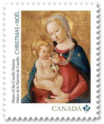 2016 Canada 📭 CHRISTMAS Stamps 📬 Mary & Infant Jesus; NATIVITY Single -MNH