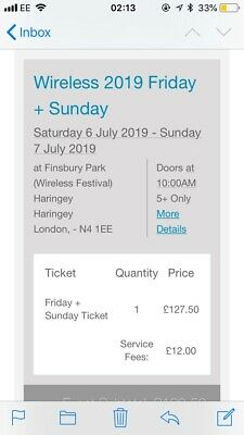 Wireless 2019 Festival Ticket FRIDAY & SUNDAY General Admission