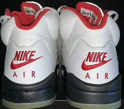 outlet store c6367 42758 Nike Air Jordan 5 1999 Fire Red Mens 9 Silver Box Launch No Crumbling  Deadstock