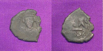 Phocas Half Follis Nicomedia mint 608-609 AD, Regnal year 7, Sear 663, Cheap!