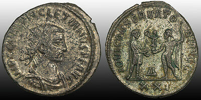 "Diocletian Fully Silvered Antoninianus 284 Antioch Mint ""Jupiter the Preserver"""