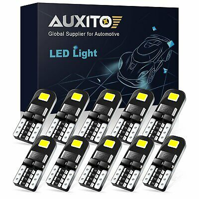 10x Auxito Canbus 2835 LED 194 T10 168 W5W Interior Dome Map License Light Bulb