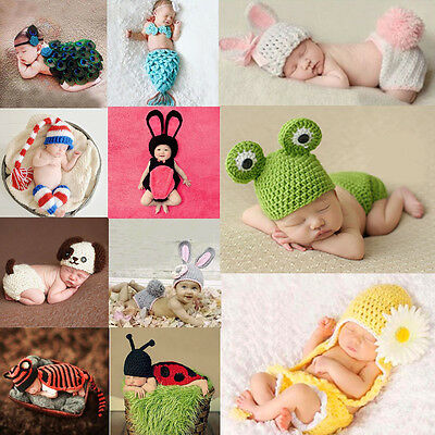 Newborn Baby Girl Boy Knit Crochet Clothes Photo Costume Photography Prop Outfit