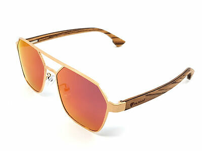 Red Mirror Scratched Gold Sunglasses Men Polarized Fashion Brand Cool UV400