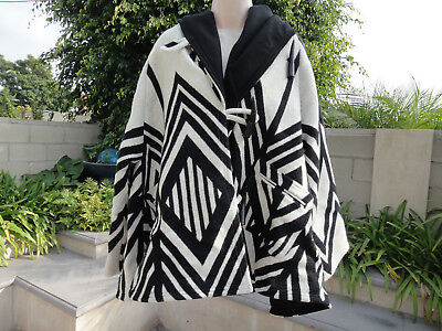 5aad58c3b Lindsey Thornburg Pendleton SKYWALKER Wool Hooded Trench Cloak Coat Poncho  OSFM