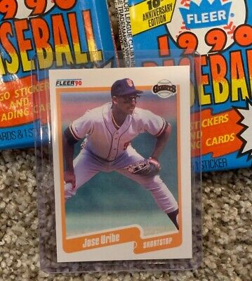 1990 Fleer Jose Uribe Rare Baseball Card Just Pulled From A Fresh
