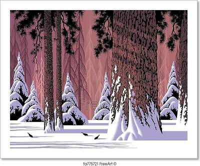 Winter Scenery Of A Forest With Snow Art Print Home Decor Wall Art Poster C