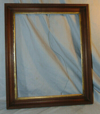 "Antique Wooden Deep Well Eastlake Frame for 20"" x 16"" Picture Estate Fresh"