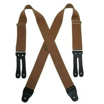 New Welch Men's Big & Tall Elastic Button End Work Suspenders