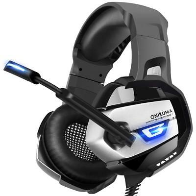 ONIKUMA Stereo Gaming Headset for PS4, Xbox One, PC, Enhanced 7.1 Surround Sound