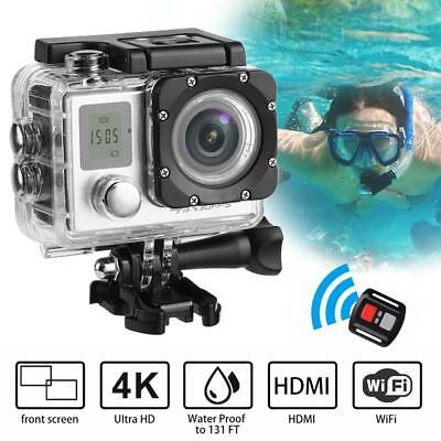 Outdoor Sport Mini Dual Screen Ultra HD 4K Wifi Action Camera Waterproof  Camera