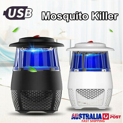 USB Mosquito Insect Killer Electric UV Light Fly Bug Zapper Trap Catcher Lamp AU