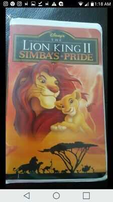 Disney's The Lion King Ii Simba's Pride Vhs 1994 Vintage Clamshell Case