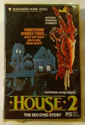 House 2 The Second Story VHS 1987 Horror Ethan Wiley Roadshow Home Vid Soft Case