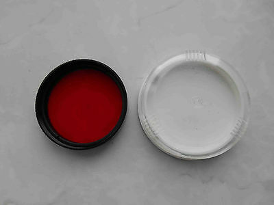 Red Light filter K-8 mount 49 mm in box for russian lens Helios 44-2