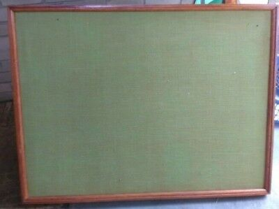Large pin board in wooden frame