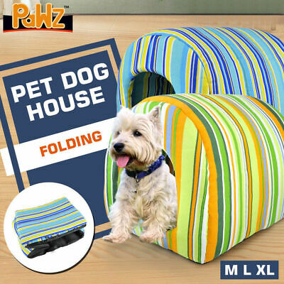 PAWZ Pet Dog House Kennel Soft Igloo Beds Cave Cat Puppy Bed Doggy Warm Cushion