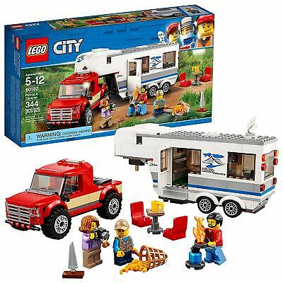 Lego City 60182 Pickup & Caravan Building Kit Truck 344 Piece Age 5 And up