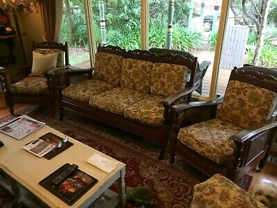 Antique Jacobean 3 piece lounge setting