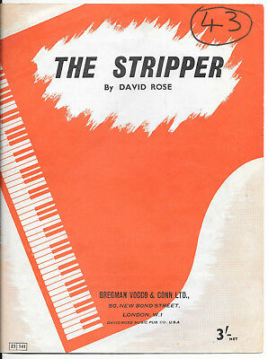 """Partition sheet piano """"The Stripper"""" David Rose 1962"""