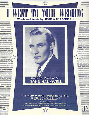 """Partition """"I went to your wedding"""" John Hauxwell, Jessie Mae Robinson 1952"""