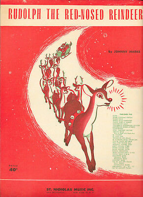 """Partition """"Rudolph the Red-Nosed Reindeer"""" Johnny Marks 1949"""