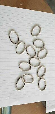 Slower curtian Rings Chrome Look / Silver