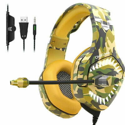 ONIKUMA K1 Pro Gaming Headset for PS4 Xbox Switch 3.5MM MIC Headphone Camouflage