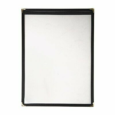 American Style Menu Holder Two Card Black A4 Catering Restaurant Cafe Bar