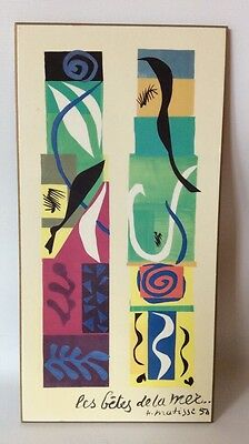"Henri Matisse Beasts Of The Sea Wood Plaque Modern Art Print 12""X 6"""