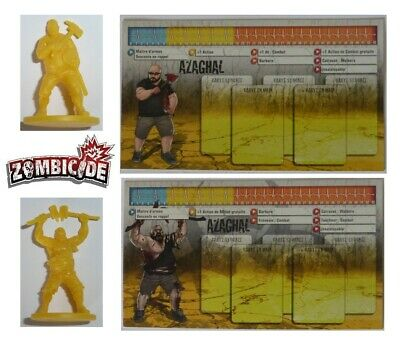 Zombicide Gaming Night #5 Azaghal Figurines Exclusives + Fiche Personnage Fr