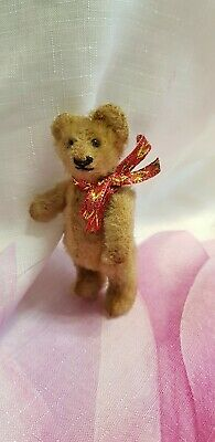 Alter Steiff Vorkrieg Mini Teddy Bär um 1930 Mohair Gold Blond