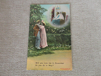 """vintage Postcard  - Bamforth Song Card """"Will You Love Me In December...unposted"""