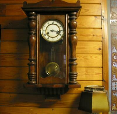 Antique Wall Clock Chiming Wall Clock Vintage Ceramic Faced Clock Collect Only