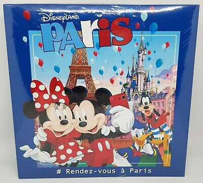 Official Disneyland Paris Mickey & Minnie Mouse Photo Album Book -Holds 200 Pics