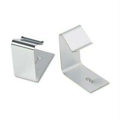 Flexible Metal Cubicle Hangers for 1 1/2 to 2 1/2in Panels, 2/Set