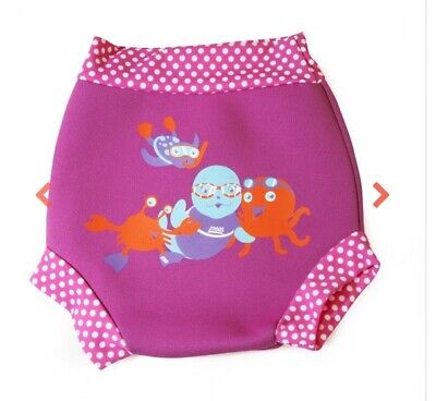 Zoggs Girls Child Pink Swimsure Swimming Pool Nappy - 6-9 months