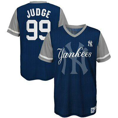 0789925d5fd Youth New York Yankees Aaron Judge Majestic Play Hard Navy Gray Jersey T- Shirt