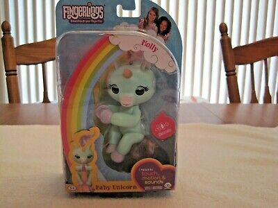 D New FINGERLINGS Molly Mint Green BABY UNICORN Interactive Figure by WowWee