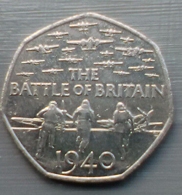 50p Coin - 2015 Battle of Britain 1940 circulated condition