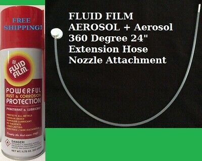 Fluid Film As11, 11.75 Oz. Aerosol, 6 Can Pack + 360° Extention Hose, Ships Free